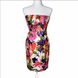 J. Crew Ella Garden floral silk strapless dress 2